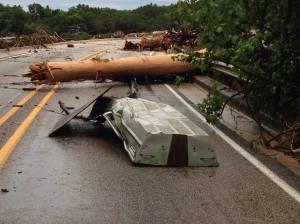 Flood damage in Wimberley, Texas 2015