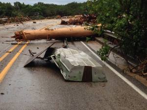 Flood damage in Wimberley, Texas 2015